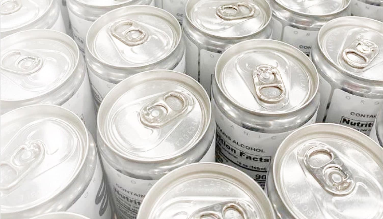 Packaging in 355ML Sleek aluminum cans